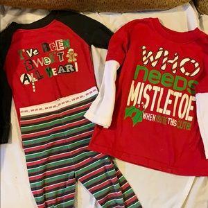 Christmas shirt and pajamas